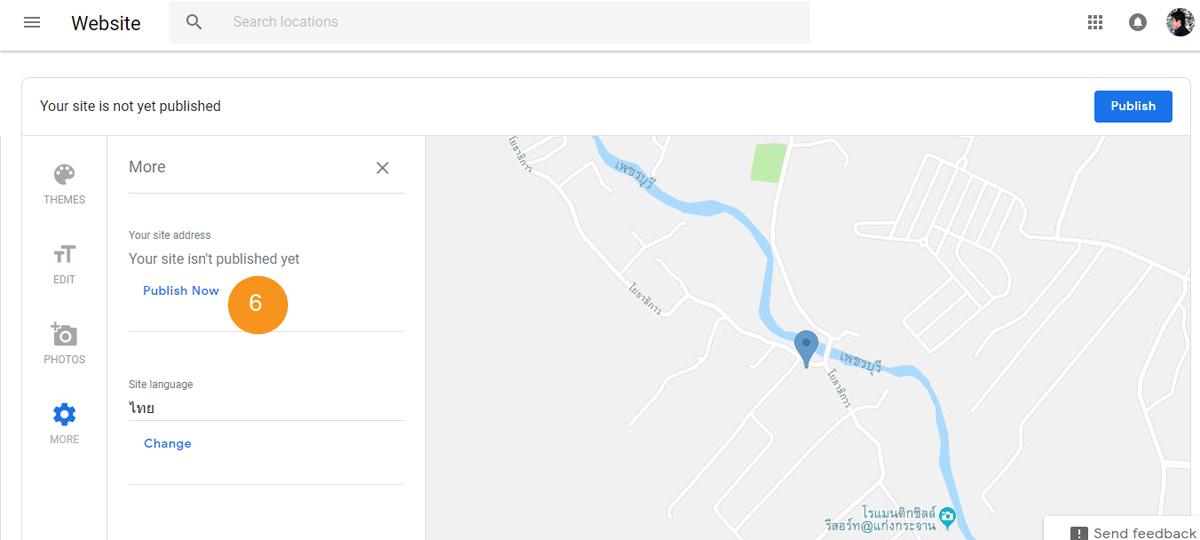 ทำเว็บไซต์ฟรี Google My Business